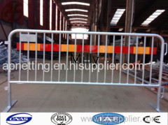Hot-dip galvanized temporary crowd control barrier/steel traffic barriers bridge foot style