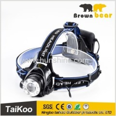 t6 led zoom ultra bright hunting head light with 18650 battery