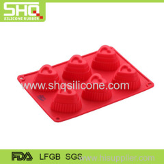 Silicone love shape cake mould