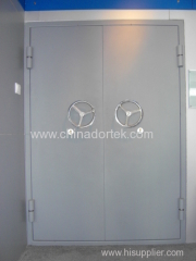 double leaves steel structured blast resistant doors