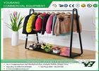 Movable Multifunctional Metal Garment Rack With Single Bar Cloth Hanger