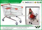 Mini Wire Steel Supermarket european shopping carts for seniors zinc plated
