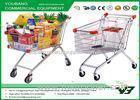 Four Wheeled High Capacity Supermarket Shopping Trolley , retail shopping carts