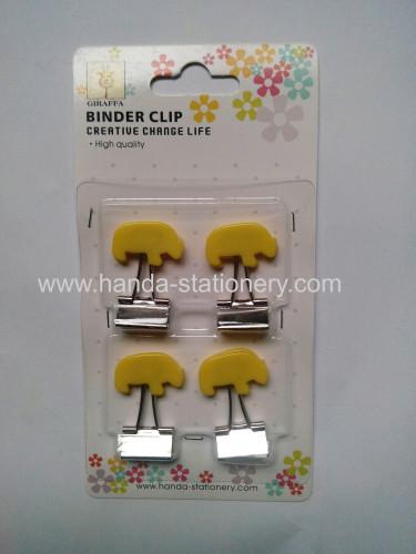creative bear shape binder clip