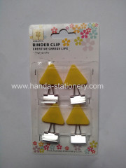 creative angle shape binder clip