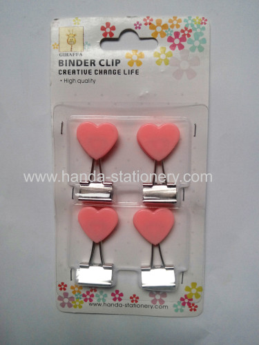 creative heart shape binder clip