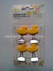 creative duck shape binder clip