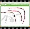 Automotive wire splice connector heat shrink tubing 4:1 shrink ratio clear black tubing metal to metal splice protector