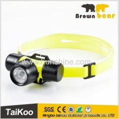 silicone aluminum waterproof headlight with 1led