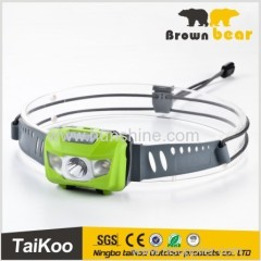 portable movement camping hiking led headlamp with ip66