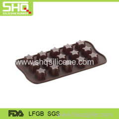 New design star shaped chocolate molds