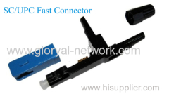 SC /UPC/APC fast connector with FTTH flat drop cable