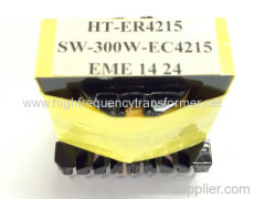 High frequency ER series switch transformer UL RoHS approved ER type transformer customized are welcomed