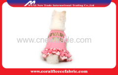 Pink Knitted Denim Cute Pet Clothes for Princess Girl Dog