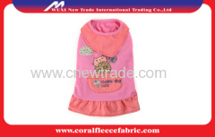 2015 Pink and Blue Baby Dog Scarf Skirt dog T-shirt for spring
