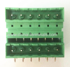 Dubbele Plug-In Terminal Block Rechthoek 5.08mm Pitch ROHS-messing