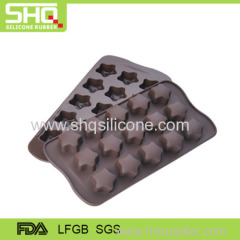 Food grade star shaped chocolate mold