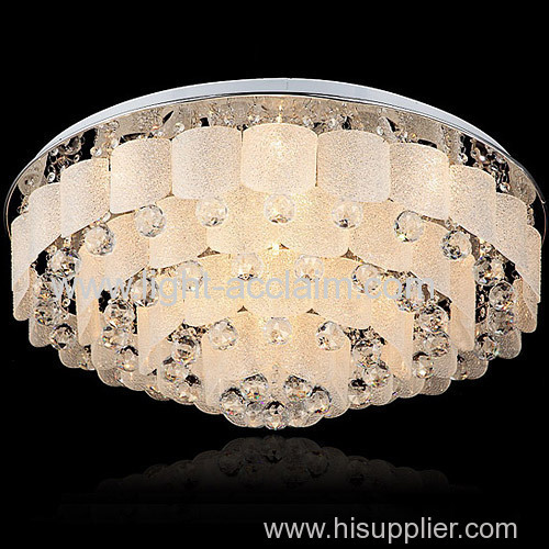 Matte glass crystal suction dome crystal interior ceiling lights crystal ball chandelier residential led lighting
