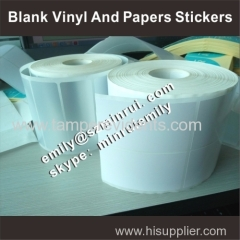 Custom blank paper stickers in rolls with any sizes for barcode printer use