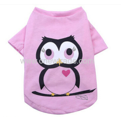 2015 hot sell Pink Cotton dog T-shirt for spring and summer