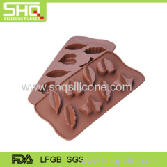 Food grade leaf shape silicone chocolate mold