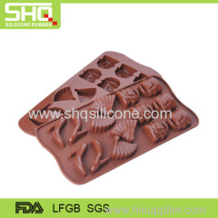 Backing silicone chocolate mold