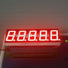 "0.56"" five digit 7 segment led display super red common cathode for digital indicator"