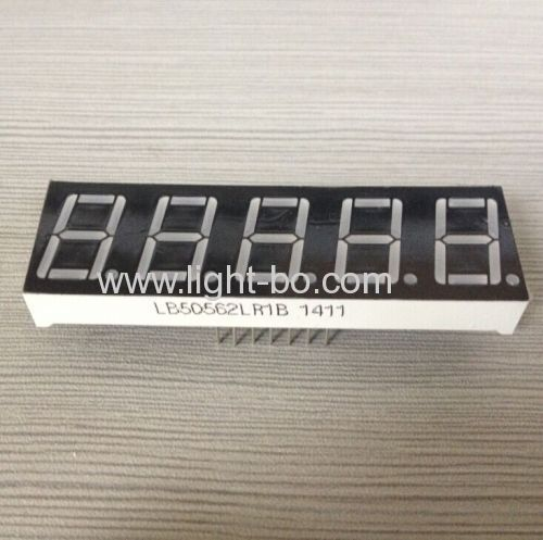 0.56five digit 7 segment led display super red common cathode for digital indicator
