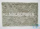 Plush Big Chenille Rubber Backing Non-Slip Microfiber Kitchen Floor Mat Grey