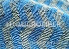 Microfiber Wavy Jacquard Twisted Pile Fabric / Mop Fabric , 150D / 144F Yarn Count
