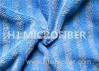 Customized Wide Blue Stripe Mop Microfiber Fabrics For Cleaning Products