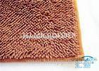 Super Absorbent Brown Bath Mat Non Slip Bathroom Mats For Homes / Hotels