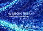 Blue Microfiber Fabric By The Yard For Mop / Microfiber Towels , Super Absorbent