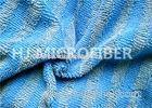 Warp Knitted Blue Microfiber Twisted Pile Fabric For Rag / Duster , Polyester Fabric