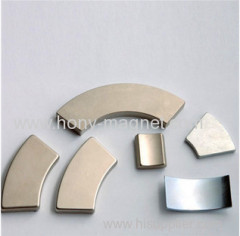 Electric motor neodymium magnets fixable arc magnet