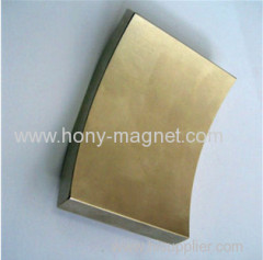 Neodymium strong Arc segment magnet for motor