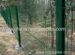 Curved Roadside Fence Panel with steel pole
