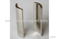 Permanent Neodymium magnetic material arc motor rotor magnets