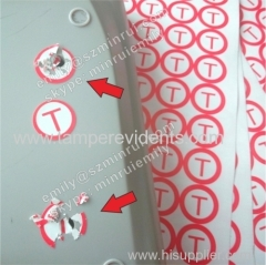 custom warranty screw security seal stickers round