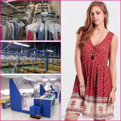 2015 new design China women dress factory product floral print Bohemian Dress