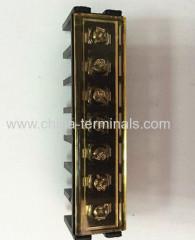 Comprare Barrier Strips & Morsetti con coperchio giallo passo 6,35 millimetri nei connettori e adattatori