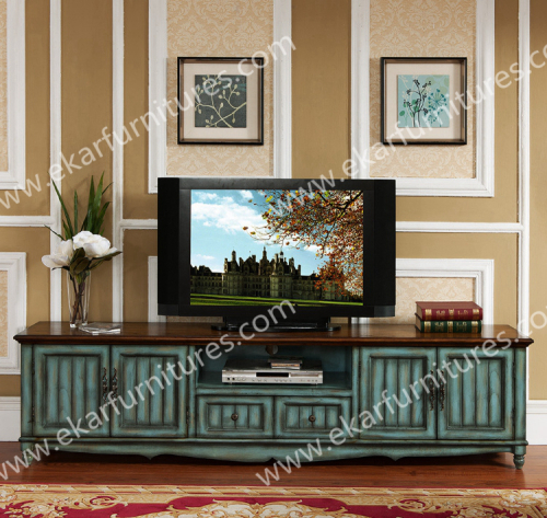 Solid Wood Tv Stand With 2 Doors Furniture Coner