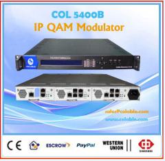 DVB-C Qam modulator ip multiplexing 8 in 1
