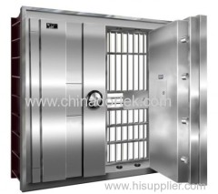 double open stainless steel treasury doors