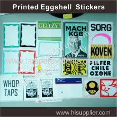 Custom good quality eggshell graffiti stickers with any designs