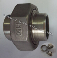 Stainless Steel Low Pressure Butt Welded Union with Gasket Pipe Fitting Joint