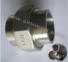 Stainelss Steel Low Pressure Socket Welded Union Pipe Fitting Joint