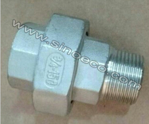 Stainless Steel Low Pressure Screwed Female & Male Union with Gasket Pipe Fitting Joint