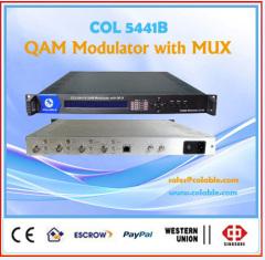 QAM dvb-c rf modulator 16 in 1 with mux scrambler