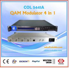 QAM dvb-c rf modulator 4 in 1